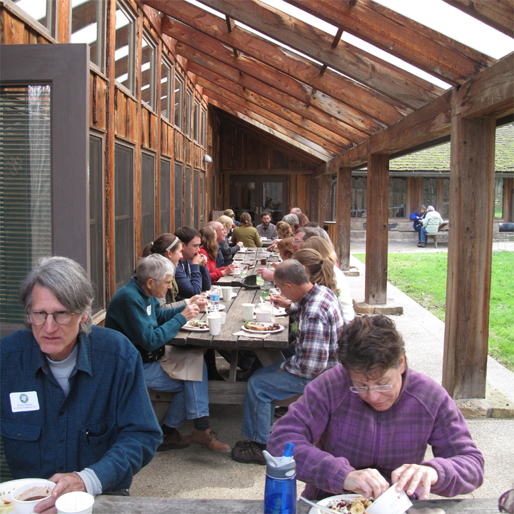 Powdermill Nature Reserve and warm weather provided perfect outdoor dining conditions.